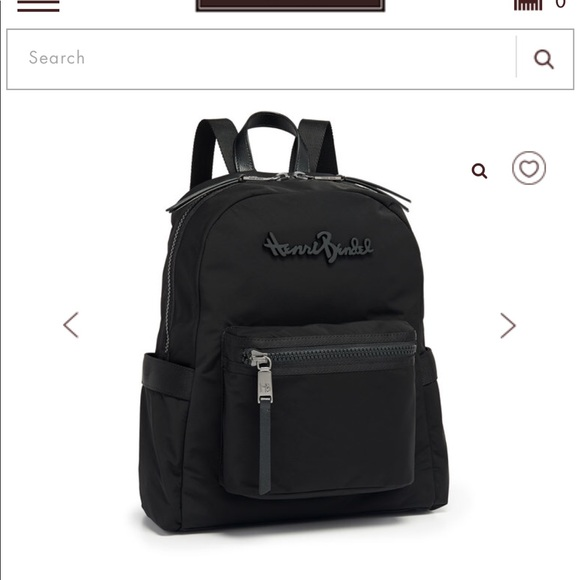 a946f7bf33 New HENRI BENDEL Studio Nylon Backpack Black